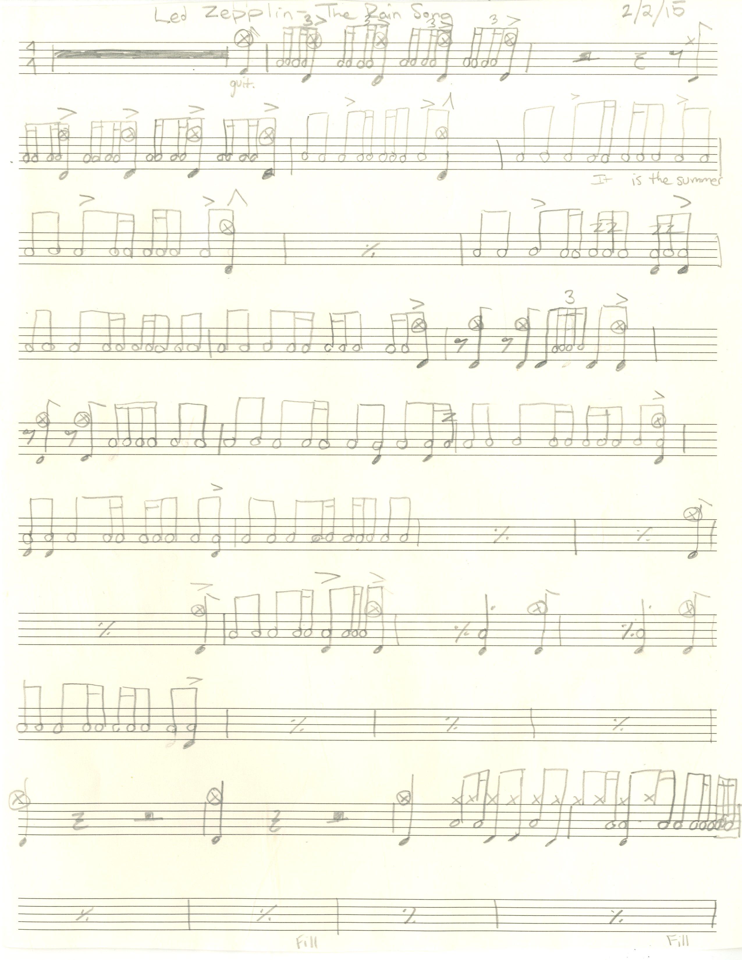 The Rain Song - 1