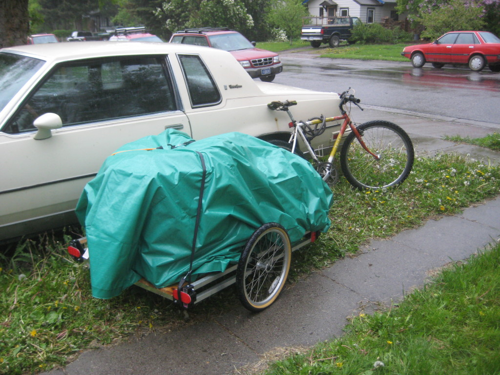 using the trailer in the rain